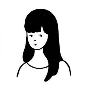 黑白简单手绘卡通头像