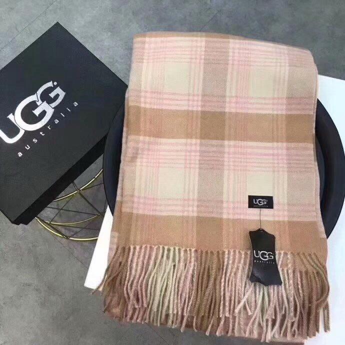UGG Australia格子羊绒围巾