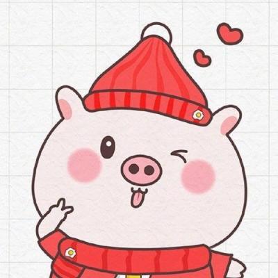 猪猪情侣头像卡通情侣搞笑