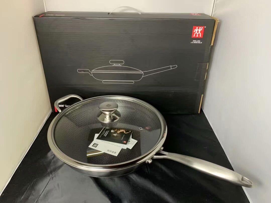 德国双立人双面聚能34cm炒锅