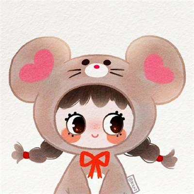 2020鼠年情侣头像可爱卡通鼠