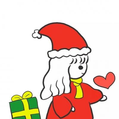 圣诞小红帽情侣头像