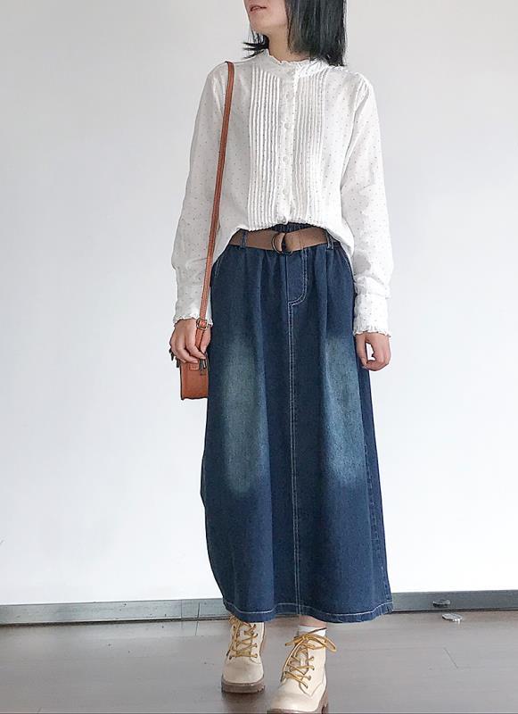 春季双层棉纱波点衬衫