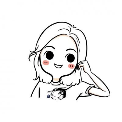 可爱简笔绘画女孩头像