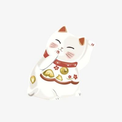 卡通可爱最旺财的微信招财猫头像