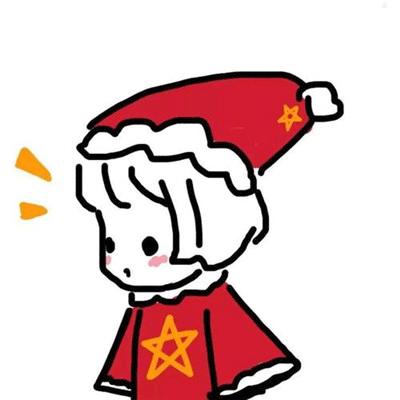 圣诞节专属可爱的圣诞帽微信头像