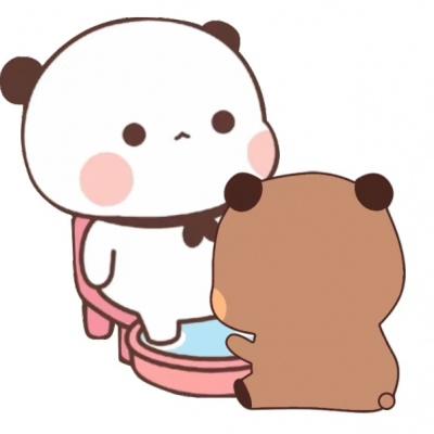 超萌小熊卡通情侣头像