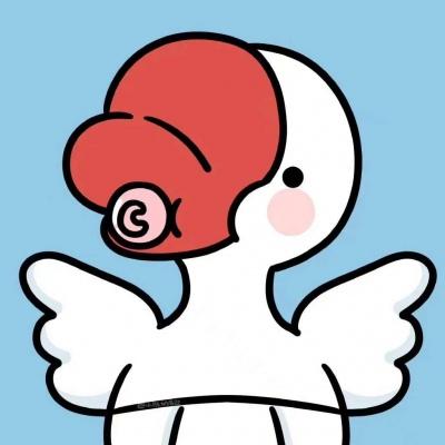 微信红小豆头像卡通超可爱头像