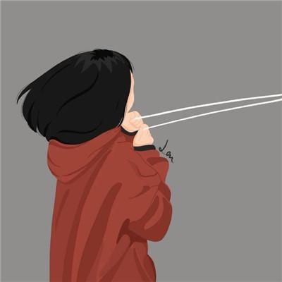 微信热门小众插画情侣头像