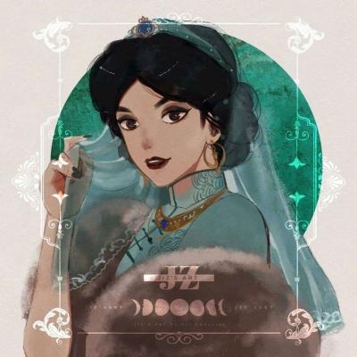 迪士尼公主搞怪有个性的微信头像
