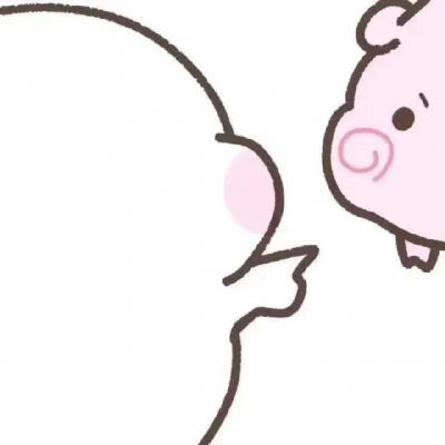 情侣头像卡通呆萌一对 久伴会让你知道每一颗心