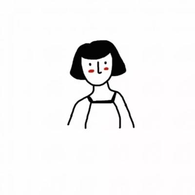 原创手绘简约情侣头像  微信黑白简约情侣头像
